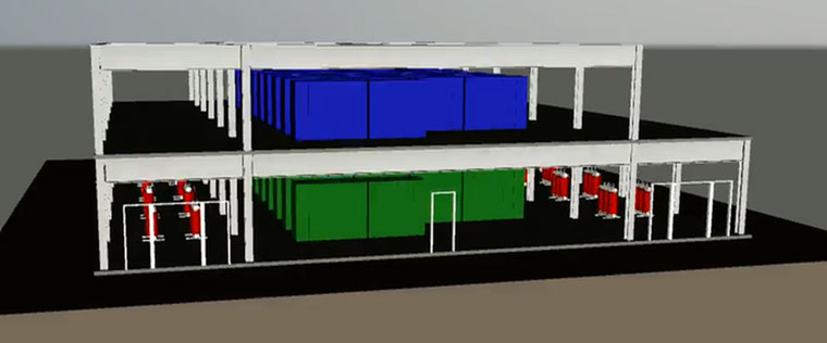 Battery storage - two storey building